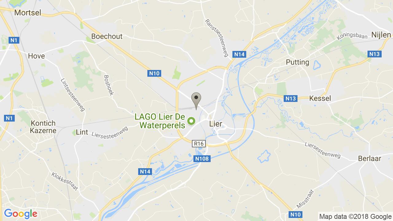 De ligging van het Senses Praktijkhuis in Lier