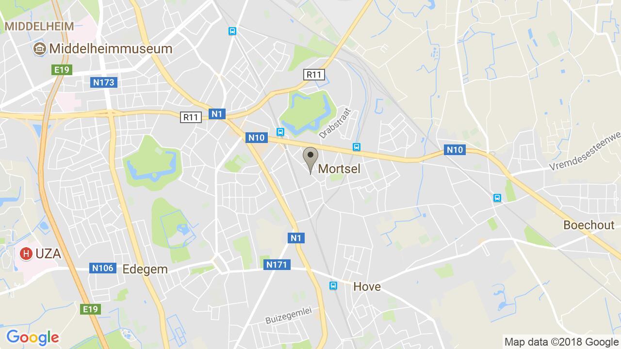 De ligging van het Senses Praktijkhuis in Mortsel